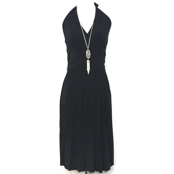 The Limited Dresses & Skirts - The Limited Black Halter Top Midi Dress A070199